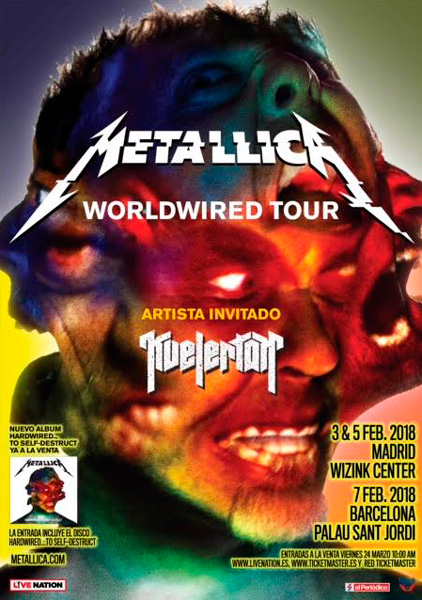 Metallica-hardwired-gira-peninsular-madrid-barcelona-2018