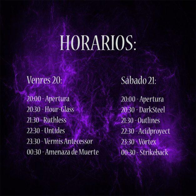 galicia metalhead horarios